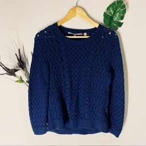 Knitted & knotted sweater